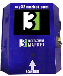 Wall or Table Mount half-size kiosk from Three Square Market.