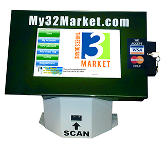 Wall or Table Munt tablet kiosk from Three Square Market.